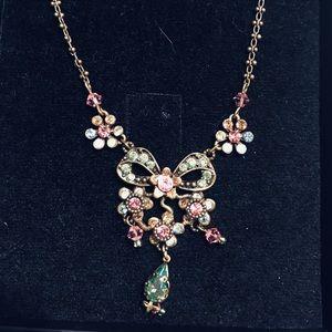Jewelry Silver Toned Diamond Necklace Poshmark